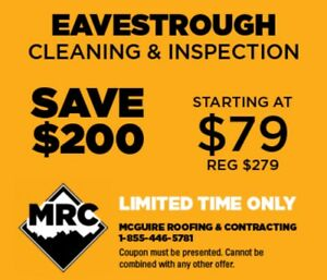 Eavestrough/Gutter Cleaning and Repair.