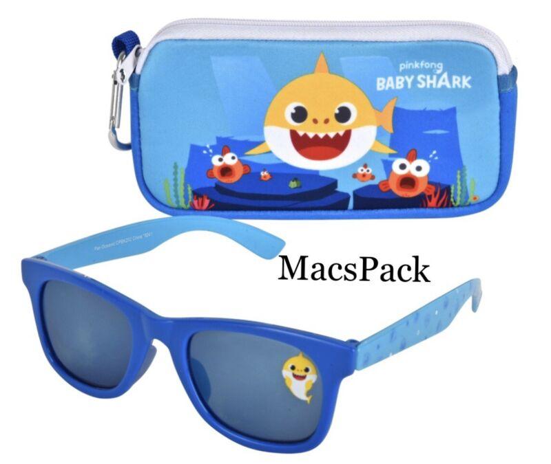 Baby Shark Kids Sunglasses and Soft Case Set 100% UV Protection