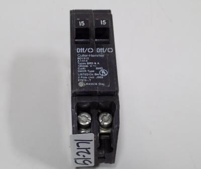 Cutler-hammer 15amp 2pole Circuit Breaker Bd1515