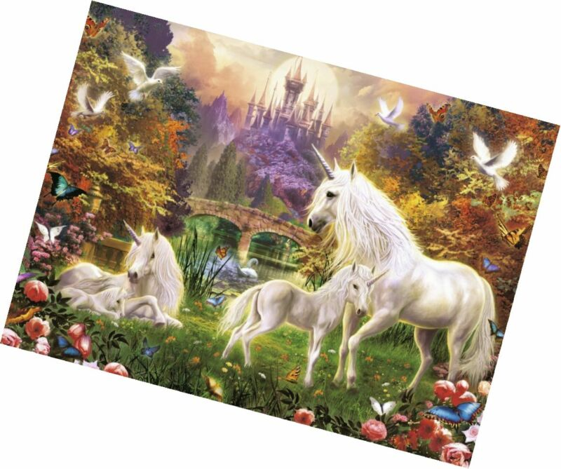 500 Pieces Ravensburger Magical Unicorns Jigsaw Puzzle