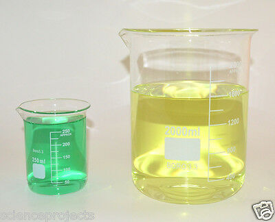 Beaker Set 2000 250 Ml Griffin Borosilicate Glass Beakers Lab New Measuring