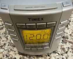 Timex # T300SW Natural Sound Digital  Alarm Clock Radio Missing Battery Cover