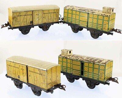 Train echelle O HORNBY WAGONS FRIGORIFIQUE et LAIT vers 1938 / jouet ancien