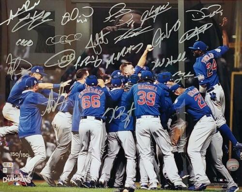 2016 Chicago Cubs Celebration signed autographed 8x10 photo RP