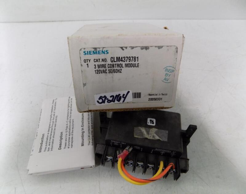 SIEMENS 120VAC 3 WIRE CONTROL MODULE CLM4379781 NIB