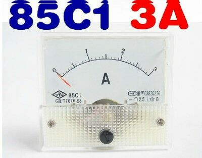 85c1-a Analog Dc 0-3a Current Tester Ammeter Amp Panel Meter