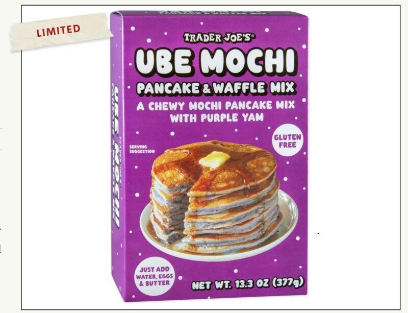 NEW Trader Joe's Ube Mochi Gluten Free Pancake Waffle Mix Exp Date 11/21/2022