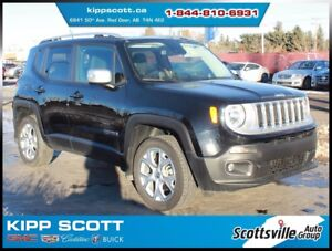 2016 Jeep Renegade Limited 4WD, Leather, Nav, Sunroof, Low KM