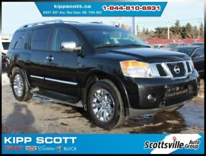 2015 Nissan Armada Platinum, 7-Pass, Leather, Nav, DVD, Sunroof