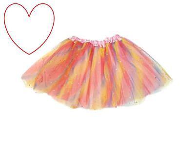 Regenbogen Tutu Kleid Geschnürt Kostüm Prinzessin Fairy Ballett - Sparkle Kleid Kostüm