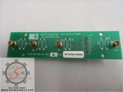 001-9116-03 / AUTOMATION WAFER SLIDE OUT DETECTOR VCE6 / BROOKS AUTOMATION INC