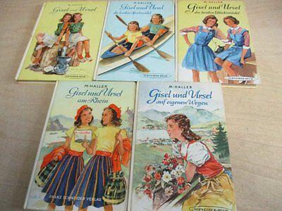 5 Alte Bücher Gisel und Ursel 50er Jahre