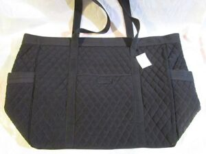 VERA BRADLEY Get Carried Away Tote Bag XL NEW TAGS Classic Black