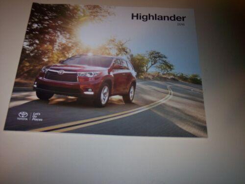 2016 Toyota  Highlander  Dealer sales Brochure