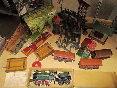 BING Bub Distler Fischer Spur 0 Blechspielzeug Blech Eisenbahn Vorkrieg Pre-War