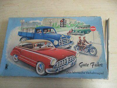 Brettspiel GUTE FAHRT Auto Spiel 50er Jahre