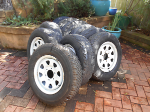 """10 x Sunraysia wheels and tyres 4x4 - 16"""" Mortlake Canada Bay Area Preview"""