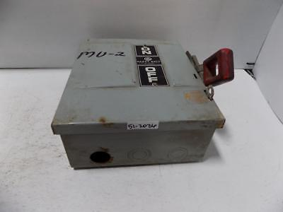 Ge Enclosed Safety Switch 30amp 600vac Model 4 Thn3361