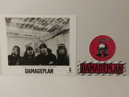 """DAMAGEPLAN - PROMO PICTURE - RARE - 8"""" X 10"""" + STICKERS - FREE SHIPPING"""