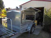 GALVANISED OFF ROAD TRAILER WITH SECURE ALUMINUM CANOPY AS NEW Caves Beach Lake Macquarie Area Preview
