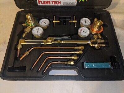 Flame Tech Victor Medium Duty Welding Cutting Brazing Kit W Many Extras Nib