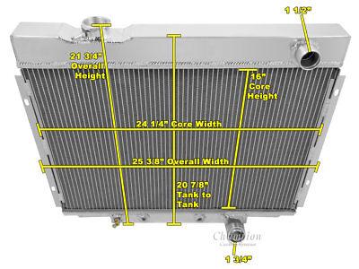 3 Row All Aluminum Alliant Radiator CC2338