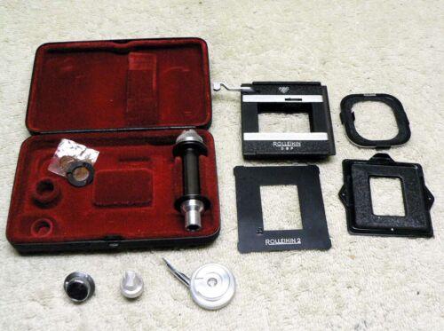 Vintage Rollei Rolleiflex Rolleicord ROLLEIKIN TLR Camera 35mm FILM Adapter Kit