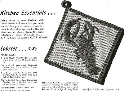 Винтажные Vintage Pot Holder Crochet Patterns