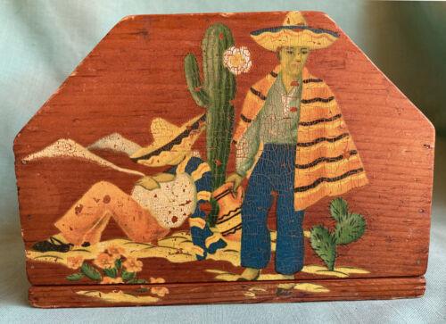 Vintage California Rancho Craft Monterey Style Wooden Holder Coronado tinoco