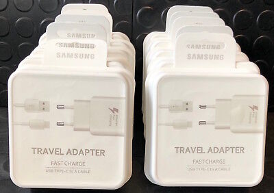 GENUINE Samsung Galaxy S8 S9 Plus Fast Charger Mains Travel Adapter C USB Cable