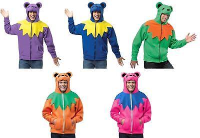 Grateful Dead Dancing Bear Hoodies / Halloween Costume / OFFICIALLY LICENSED NWT