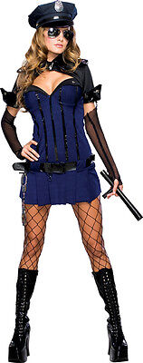 Night Watch Police Officer Cop Security Dress Up Halloween Sexy Adult Costume