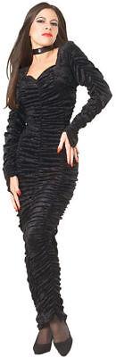 Coffin Queen Halloween Costume (Coffin Queen Black Gothic Vampire Halloween Tempest Sexy Mermaid Small Velvet)