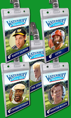 Happy Gilmore Halloween Costume Golf Badge Card Chubbs Otto Caddy Waterbury Open - Caddie Halloween Costumes