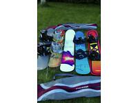 5 snowboarding all different type and size