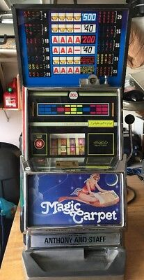 Vintage Magic Carpet SLOT MACHINE - over 25 years old. Made In Australia.