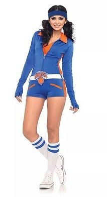 New York Knicks NBA Basketball Cheerleader Romper Woman's Costume L Licensed - Nba Costumes