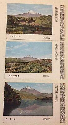 JAPAN 3AK um 1910-20 Berg Fuji ungelaufen