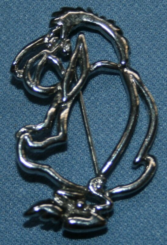 "Walt Disney Eeyore Pin Brooks Silver Tone Winnie The Pooh 1 3/4"" Jewelry"