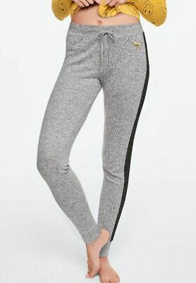 VICTORIA'S SECRET PINK PANTS | COZY SLEEP LEGGING SOFT JERSEY FLEECE SLIM GRAY L Fleece T-shirt Sweatpants