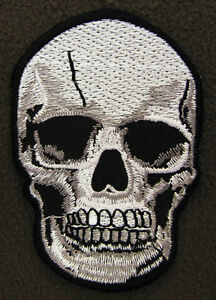 SKULL WITH TEETH  Iron On/Sew On Patch Emo Goth Punk Rock