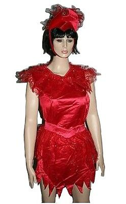 Devilina Adult Red Devil Halloween Costume Dress Standard Size up to 12 CHEAP