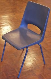 Lot 27 Stacking Plastic / Metal Chairs, Office, School, Dining Room, Cafe, Canteen, Function Hall