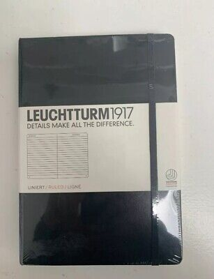 Leuchtturm1917 A4 Hardcover Notebook Ruled Black New