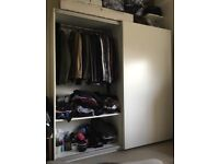 IKEA PAX WHITE SLIDING WARDROBE GOOD CONDITION CAN DELIVER
