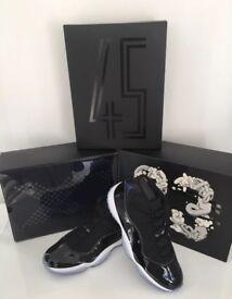 Authentic Nike Air Jordan XI 11 Space Jam - Black/Concord-White UK11 US12