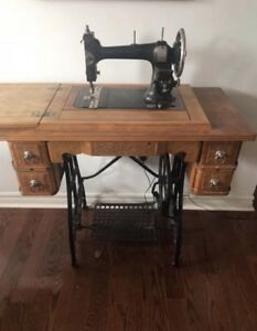 Antique Wooden Sewing Table