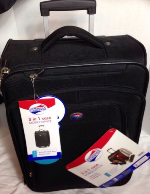 American tourister wheeled mobile office 13 3 x16 5 x8 wheeled upright black ebay - American tourister office bags ...