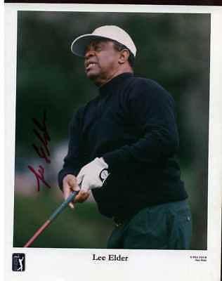 LEE ELDER (Golf Star) HAND SIGNED AUTOGRAPH 8x10 PHOTO **ON SALE** G-35