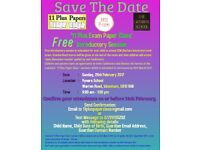 11 Plus Exam paper class session Free Event